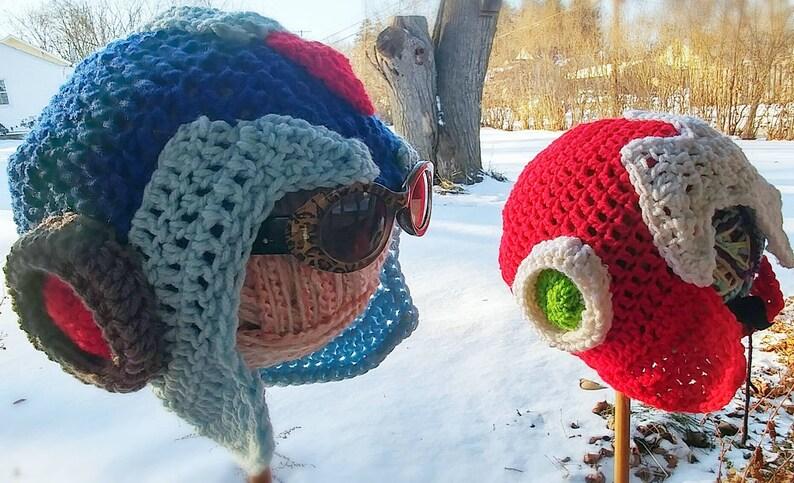 1f693d11af2 Mega Man Crocheted Helmets