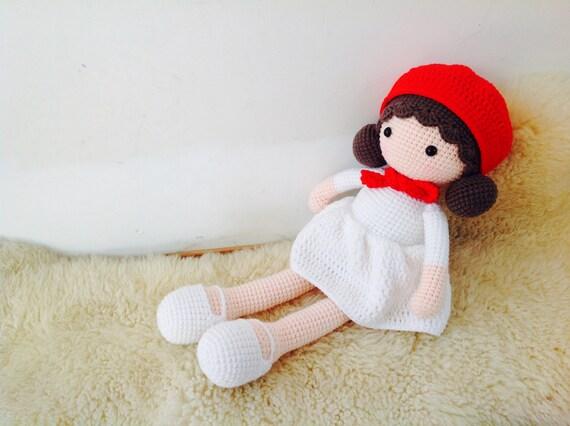 Gehaakte Pop 18 Inch Aria Pop Baby Doll Handgemaakte Pop Etsy