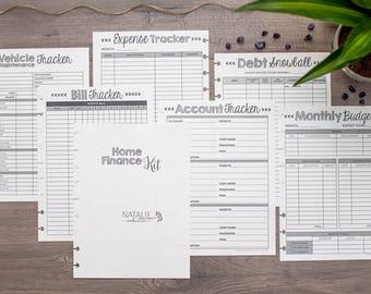 FINANCE Happy Planner Printed Budget Inserts, Happy Planner Finance Kit, Financial Planning, Debt Snowball, Create 365 Planner Refills