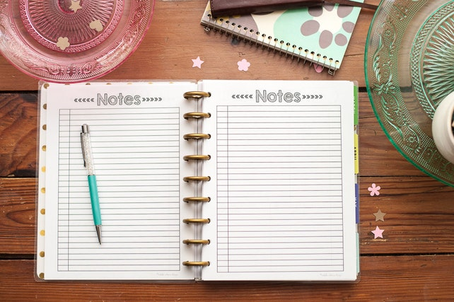 NOTES Happy Planner Printed Paper, Letter Sized Happy Planner Refill Inserts, Happy Planner Create 365, Me and My Big Ideas, MAMBI, Classic