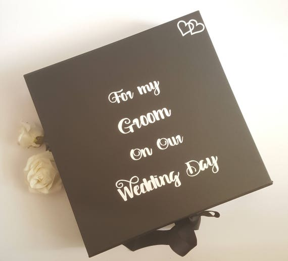 Large Groom Box Groom Gift Box Husband To Be Gift For My Etsy