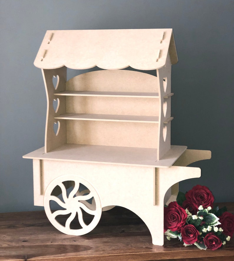 Candy Cart Table Top Candy Cart Wooden Candy Cart Mdf Candy Cart Wedding Candy Cart Wedding Sweet Cart