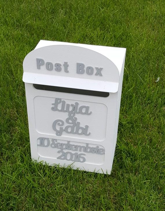 Karte Mail Box Hochzeit Briefkasten Briefkasten Postfach Etsy