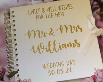 Wedding Guest Book, Traditional Wedding Guest Book, Guest Book, Wedding Book Album, Guest Book, Wedding Guestbook, Personalised Wedding