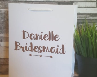 Bridesmaid Gift Bags, Small Personalised Gift Bags, Hen Party Gift Bags, Handmade Gift Bags, Wedding Gift Bags, Bridal Party Gift Bags
