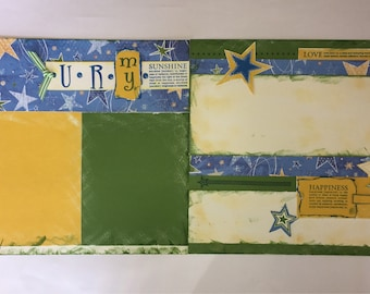 U R my Sunshine pre-made double page scrapbook layout