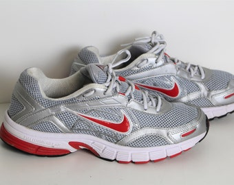 buy popular b6347 13565 Vintage NIKE Air Alaris shoes Mens Nike sports Trainers Mens Silver Red  Sneakers Eur 42 (EUR) 8,5 (US ) uk 7,5