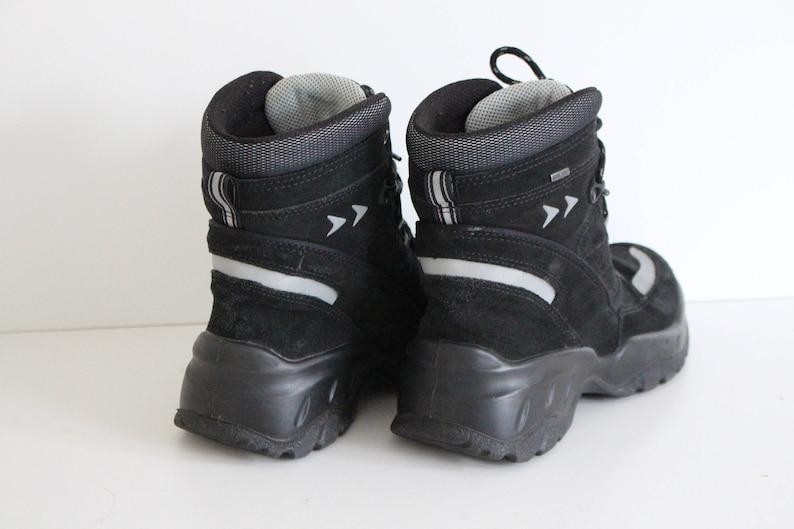 975bdbb0 Walking Boots ECCO Black Suede Lace up boots Hiking Ankle Boots Trail  Hiking Boots Combat Military Boots Size Womens Us 8 , Eur 39, UK 6