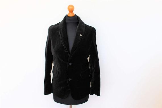 Black Velvet Blazer Tommy HILFIGER Velvet Jacket B