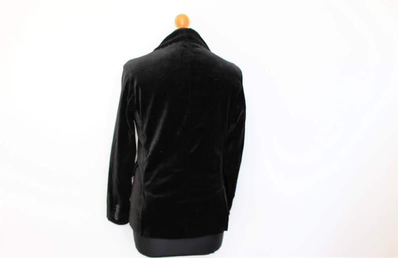 cb703b93 Black Velvet Blazer Tommy HILFIGER Velvet Jacket Black Cotton   Etsy