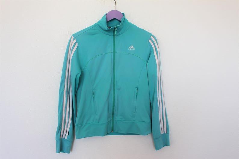 6ca3dfebc1d7 Light Blue Adidas Jacket Vintage Track Jacket Green Adidas