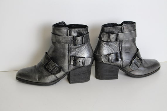 Silver heeled Ankle Boots VIC MATIE Silver Metalli