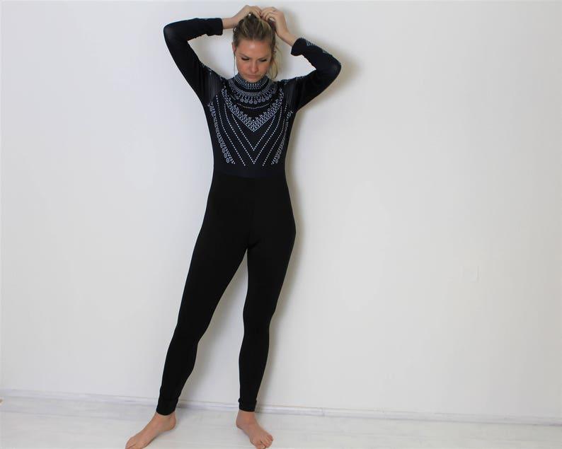 cf9d402f21b6 Romper Jumpsuit Black Overalls Elastic Hippie Jumpsuit Ziped