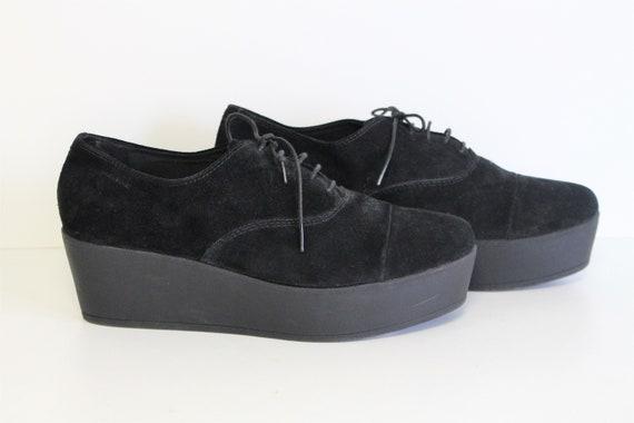 Black Suede Platform Boots VAGABOND