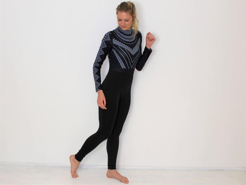 73d51e890105 Romper Jumpsuit Black Overalls Elastic Hippie Jumpsuit Ziped