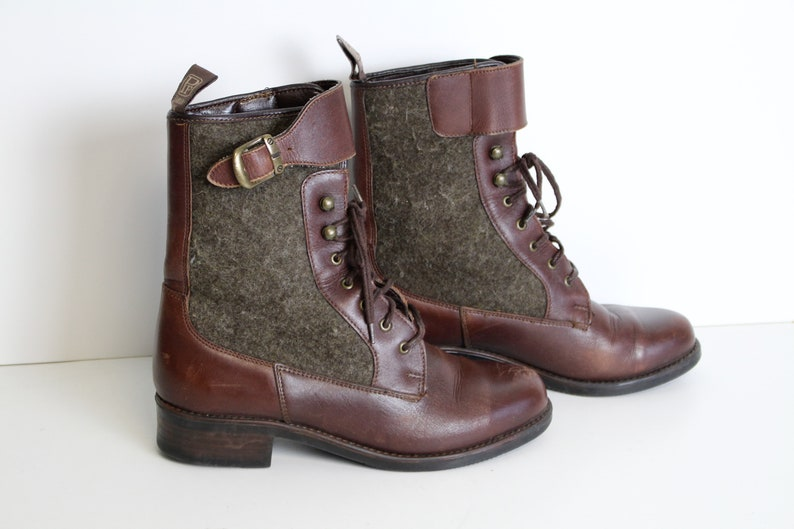 Brown Leather Chukka Boots Pomar Finn Women Lace Up Ankle Etsy
