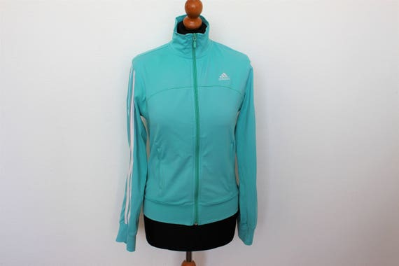 Blue Adidas Track Jacket 3 stripes Vintage Adidas Clima 365 Modell Hipster Sports Jacket Striped Athletic Size Large