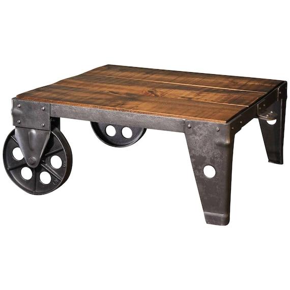 Table Basse Industrielle Usine Moderne Boutique Bois En Acier Et Fer Panier
