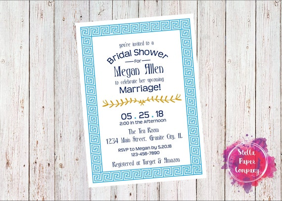 my big fat greek wedding invitations