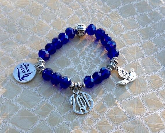 Zeta Phi Beta Inspired 6 Charm Bracelet