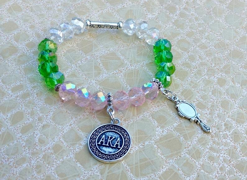 d6842eec7 Alpha Kappa Alpha Sorority Bracelet Sorority Jewelry AKA | Etsy
