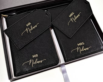 1286f38b5 Mr   Mrs Passport Holders and Luggage Tags