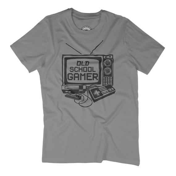 HUSBAND GIFT Old School Gamer T Shirt Vintage Pixel Art
