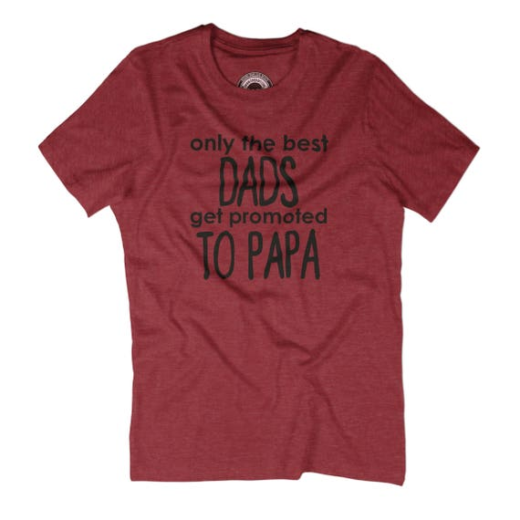 New dad t-shirt Only best the best Only dads get promoted to papa t-shirt Awesome papa Fathers day Gift for paw paw Young new grandpa gift APV352 9b1e7c