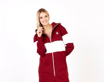 2bd72965e2 Red fleece jumpsuit