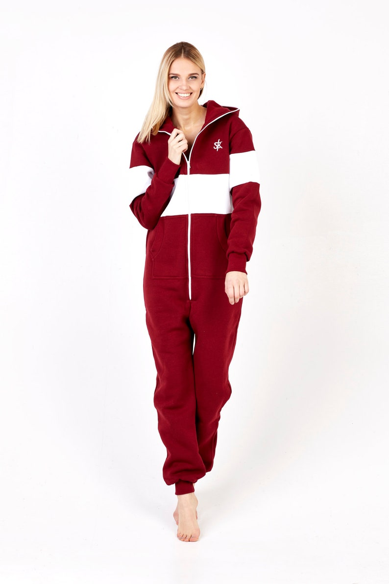 4e45bb75c9 Adult Onesie Pajamas Full Length Fleece Lounger with Zipper