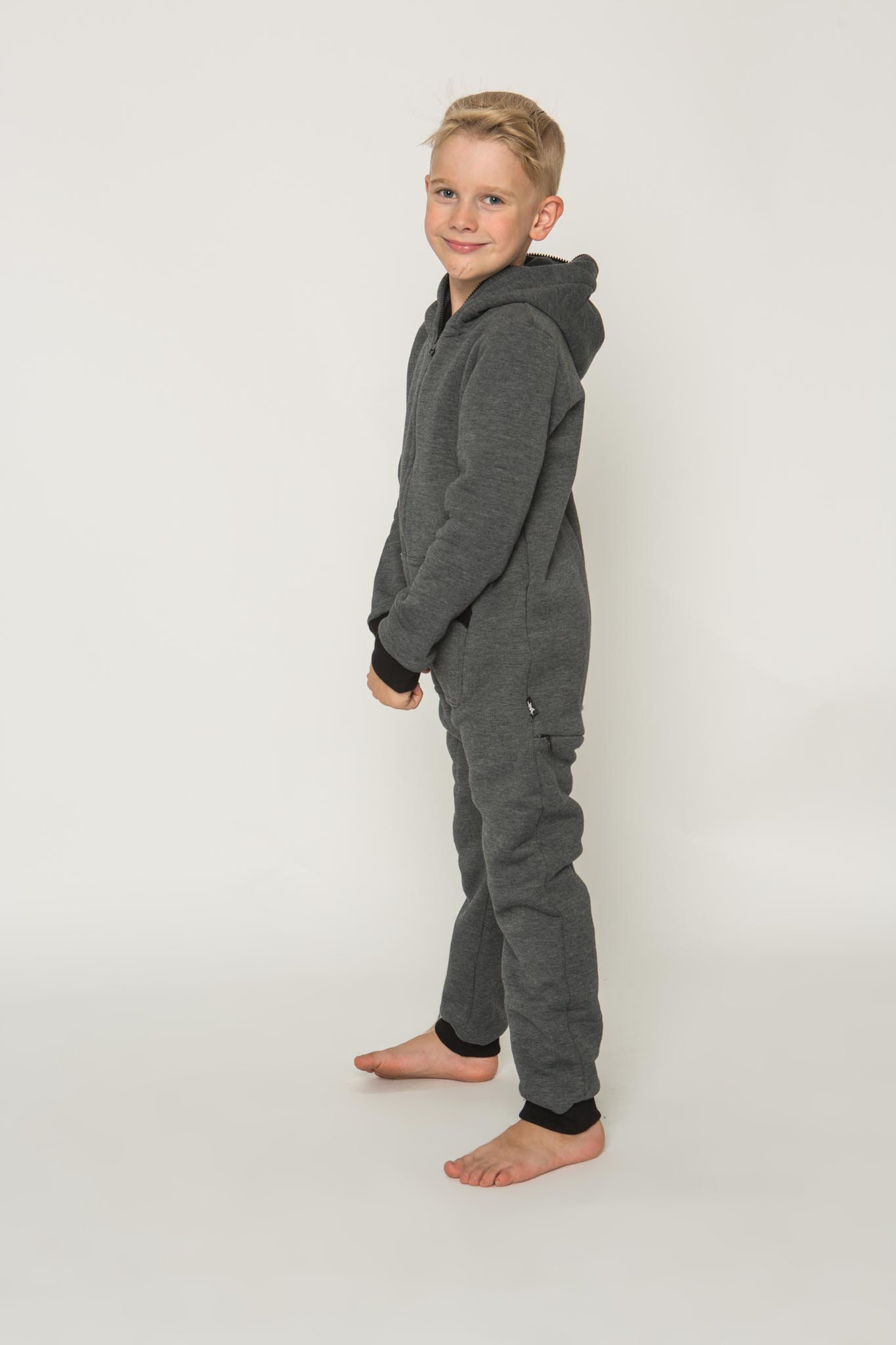 f462ce25815e SOFA KILLER dark grey unisex kids onesie with zipper in the