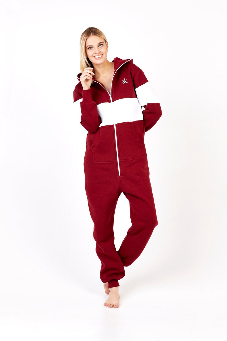 5c602bd70bf4 Adult Onesie Pajamas Full Length Fleece Lounger with Zipper