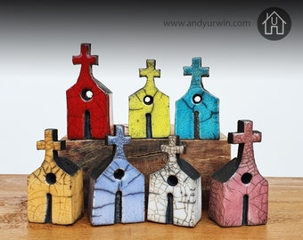 Tiny Raku Churches