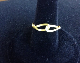 Gold Wire Wrapped Ring