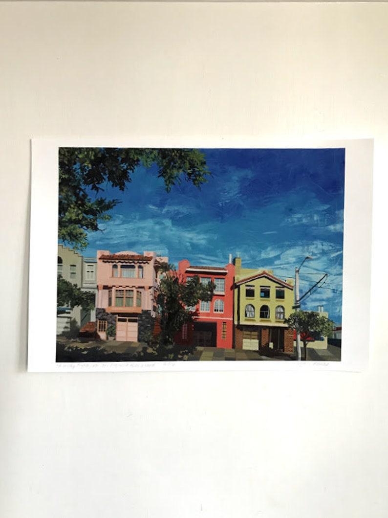 Small Signed Print Art San Francisco Home Decor