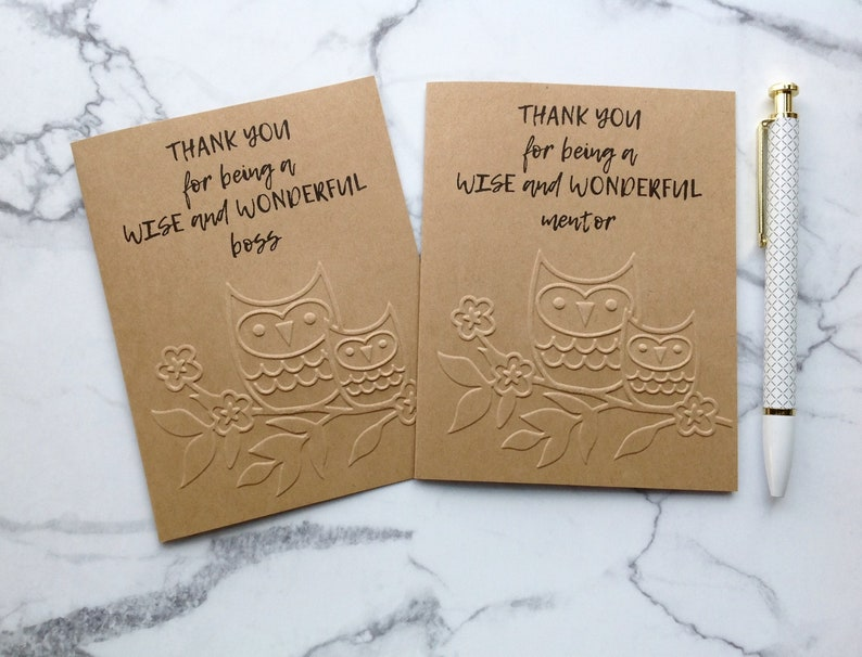 for women Boss thank you card  Boss/'s Day card for mentor  Manager appreciation gift from team  Supervisor retirement card for men