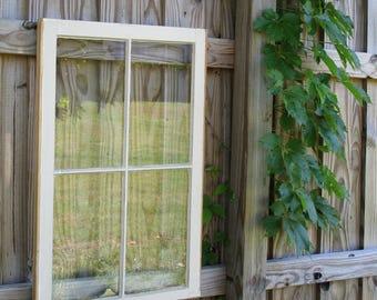 VINTAGE SASH ANTIQUE WOOD WINDOW PICTURE FRAME PINTEREST 32x31 CUSTOM LISTING