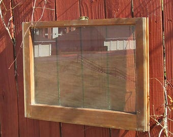 Vintage antique 1 pane28x20wood window sash wedding picture frame #225