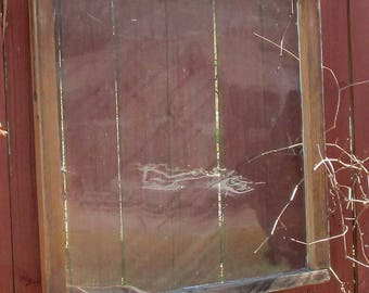 Vintage antique 1 pane28x28wood window sash wedding picture frame #217