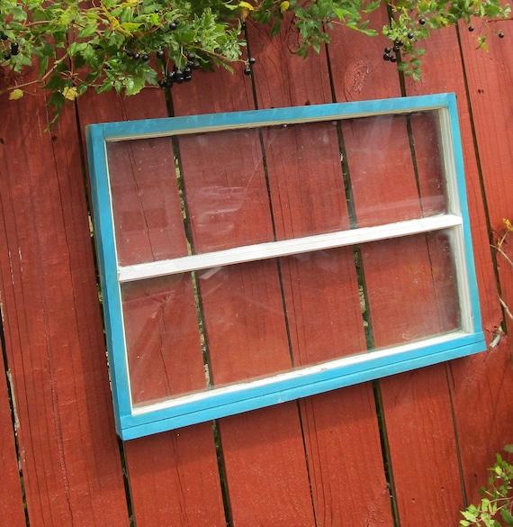 VINTAGE SASH ANTIQUE WOOD WINDOW FRAME PINTEREST DISTRESSED RED 24X28 FARM HOUSE