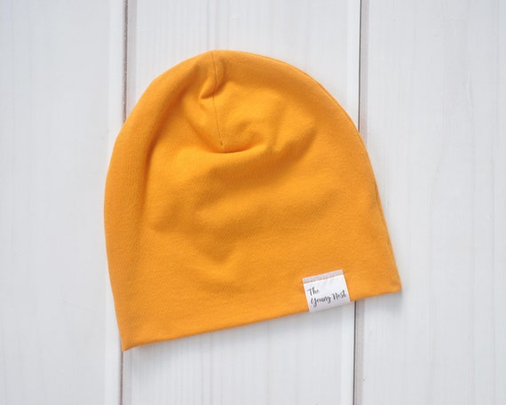 Mustard Yellow Beanie Slouchy Beanies for Babies Children or  6ca694227ac
