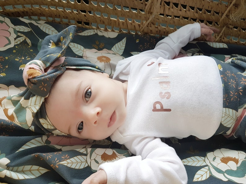 Swaddle /& Headband  Hat Set Hospital Take Home Outfit Coming Home Outfit Baby Girl Baby Shower Gift Set Girl