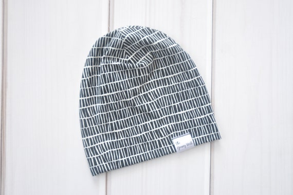 cdc00930ea0 Slouchy Beanie Hat Monochrome Hat for Babies Children or