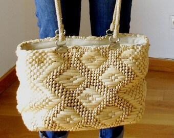 Rattan bag straw bag wicker basket woven bag basket wicker market tote market bag summer tote beach tote vintage