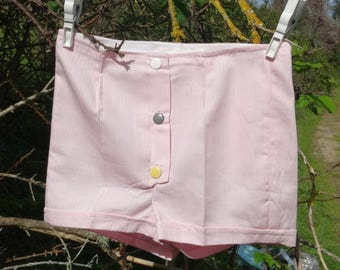 Baby girl summer shorts cotton pink toddler shorts 2T 3T baby summer clothes vintage 1960s New Old Stock