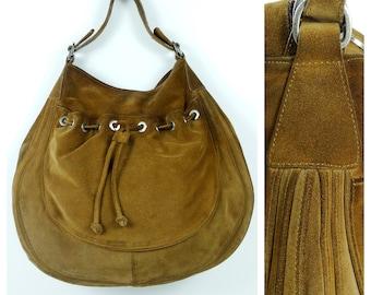 61eb0e4c8 Leather hobo bag large hobo bag hobo handbag suede hobo bag brown leather bag  women vintage 90s