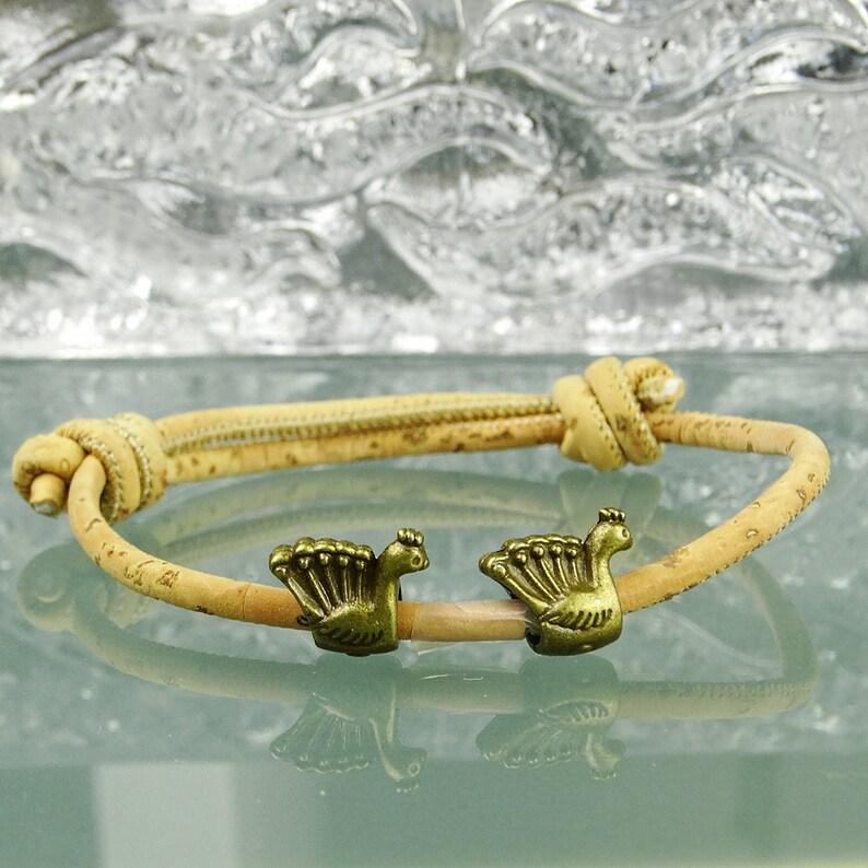 bracelet cuir vegan homme