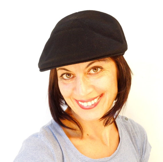 Flat cap Kangol style newsboy hat hooligan hat hipster womens  cc2f53637b8