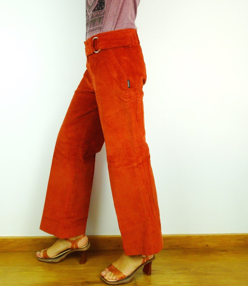 Corduroy pants baggy bell bottoms wide leg pants burnt orange jeans corduroy jeans boho pants bell bottom jeans hippie retro
