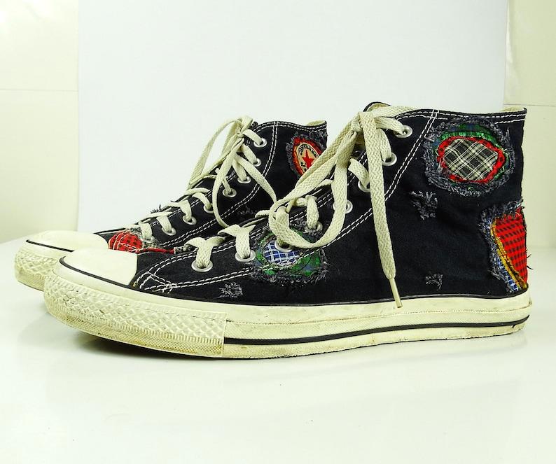 cf2c2a37e89 Converse shoes Converse High Top size 11 patchwork Converse